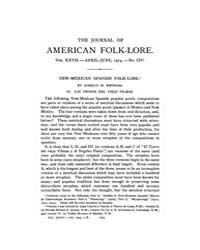 The Journal of American Folklore : 1914 ... Volume Vol.2 by Dubois,thomas,a.
