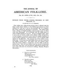 The Journal of American Folklore : 1922 ... Volume Vol.10 by Dubois,thomas,a.