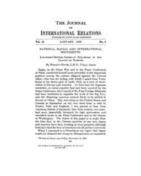 The Journal of International Relations :... Volume Vol.12 by