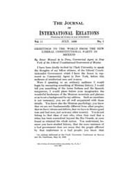 The Journal of International Relations :... Volume Vol.13 by