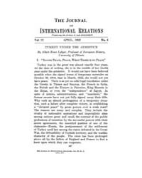 The Journal of International Relations :... Volume Vol.15 by