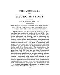 The Journal of Negro History : 1916 Oct ... Volume Vol.1 by Franklin, V.P.