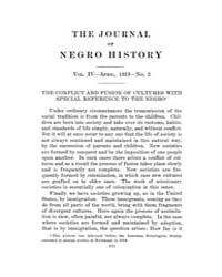 The Journal of Negro History : 1919 Apr ... Volume Vol.2 by Franklin, V.P.