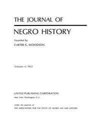 The Journal of Negro History : 1921 Jan ... Volume Vol.3 by Franklin, V.P.