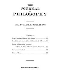 The Journal of Philosophy : 1921 Apr. 14... Volume Vol.10 by