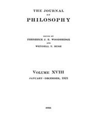 The Journal of Philosophy : 1921 Jan. 6 ... Volume Vol.11 by