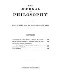 The Journal of Philosophy : 1921 Sep. 29... Volume Vol.1 by Franklin,v.P.