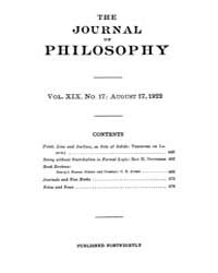 The Journal of Philosophy : 1922 Aug. 17... Volume Vol.2 by Franklin,v.P.