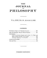 The Journal of Philosophy : 1922 Aug. 3 ... Volume Vol.2 by Franklin,v.P.