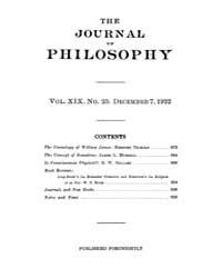 The Journal of Philosophy : 1922 Dec. 7 ... Volume Vol.3 by Franklin,v.P.