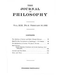 The Journal of Philosophy : 1922 Feb. 16... Volume Vol.3 by Franklin,v.P.