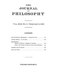 The Journal of Philosophy : 1922 Feb. 2 ... Volume Vol.3 by Franklin,v.P.