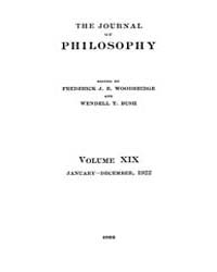 The Journal of Philosophy : 1922 Jan. 5 ... Volume Vol.4 by Franklin,v.P.