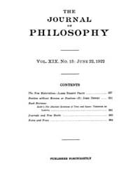 The Journal of Philosophy : 1922 Jun. 22... Volume Vol.4 by Franklin,v.P.