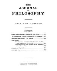 The Journal of Philosophy : 1922 Jun. 8 ... Volume Vol.5 by Franklin,v.P.