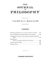 The Journal of Philosophy : 1922 Mar. 16... Volume Vol.5 by Franklin,v.P.