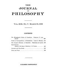 The Journal of Philosophy : 1922 Mar. 30... Volume Vol.5 by Franklin,v.P.