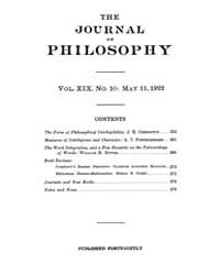 The Journal of Philosophy : 1922 May 11 ... Volume Vol.6 by Franklin,v.P.