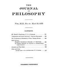 The Journal of Philosophy : 1922 May 25 ... Volume Vol.6 by Franklin,v.P.