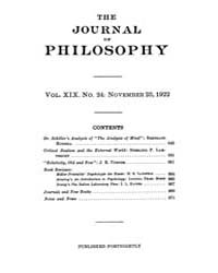 The Journal of Philosophy : 1922 Nov. 23... Volume Vol.6 by Franklin,v.P.