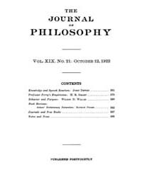 The Journal of Philosophy : 1922 Oct. 12... Volume Vol.7 by Franklin,v.P.