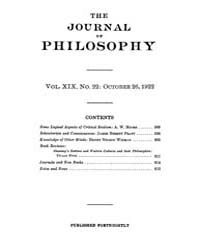 The Journal of Philosophy : 1922 Oct. 26... Volume Vol.7 by Franklin,v.P.