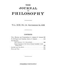 The Journal of Philosophy : 1922 Sep. 14... Volume Vol.7 by Franklin,v.P.