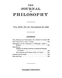 The Journal of Philosophy : 1922 Sep. 28... Volume Vol.7 by Franklin,v.P.
