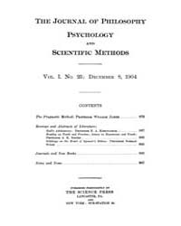 The Journal of Philosophy : Psychology a... Volume Vol.1 by