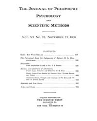 The Journal of Philosophy : Psychology a... Volume Vol.6 by