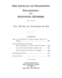 The Journal of Philosophy : Psychology a... Volume Vol.7 by