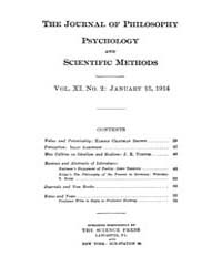 The Journal of Philosophy : Psychology a... Volume Vol.11 by