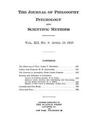 The Journal of Philosophy : Psychology a... Volume Vol.12 by