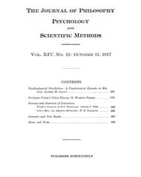 The Journal of Philosophy : Psychology a... Volume Vol.14 by