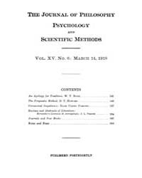 The Journal of Philosophy : Psychology a... Volume Vol.15 by