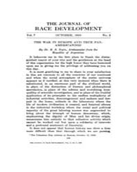 The Journal of Race Development : 1916 O... Volume Vol.7 by