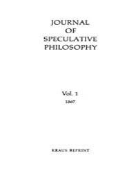 The Journal of Speculative Philosophy : ... Volume Vol.1 by Stuhr,john