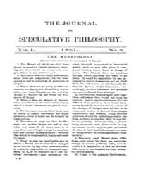 The Journal of Speculative Philosophy : ... Volume Vol.1 by Stuhr,john