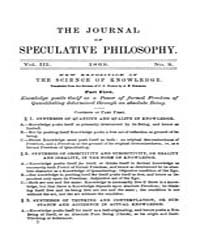 The Journal of Speculative Philosophy : ... Volume Vol.3 by Stuhr,john