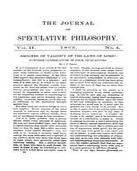 The Journal of Speculative Philosophy : ... Volume Vol.2 by Stuhr,john