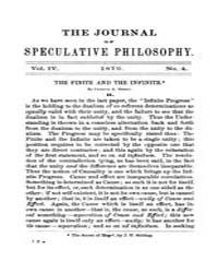 The Journal of Speculative Philosophy : ... Volume Vol.4 by Stuhr,john