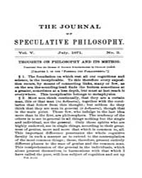 The Journal of Speculative Philosophy : ... Volume Vol.5 by Stuhr,john