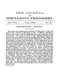 The Journal of Speculative Philosophy : ... Volume Vol.8 by Stuhr,john