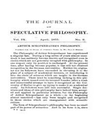 The Journal of Speculative Philosophy : ... Volume Vol.9 by Stuhr,john