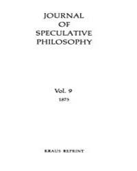 The Journal of Speculative Philosophy : ... Volume Vol.9 by Stuhr,john