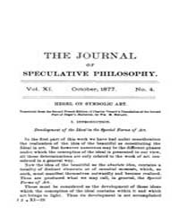 The Journal of Speculative Philosophy : ... Volume Vol.11 by Stuhr,john