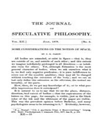 The Journal of Speculative Philosophy : ... Volume Vol.12 by Stuhr,john