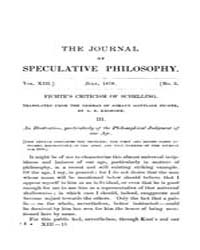The Journal of Speculative Philosophy : ... Volume Vol.13 by Stuhr,john