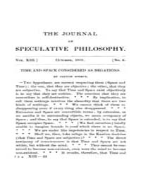 The Journal of Speculative Philosophy : ... Volume Vol.13 by Stuhr,john