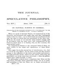 The Journal of Speculative Philosophy : ... Volume Vol.14 by Stuhr,john